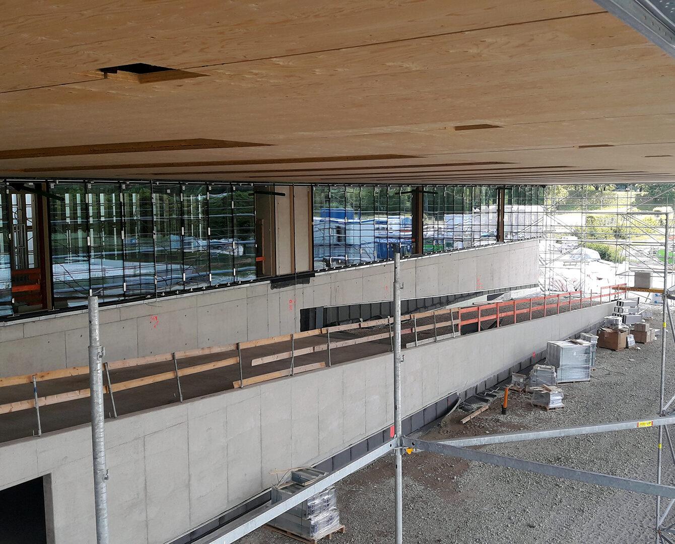 CiO München - PR Fassade Süd-West unter Vordach