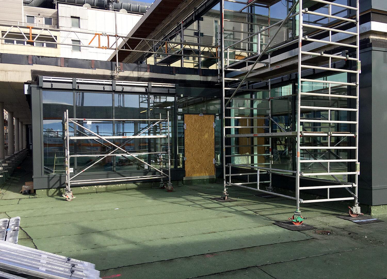 RoMed Klinik - PR Fassade Dachterrasse West